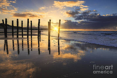 Beautiful Sunset Dunedin New Zealand Art Print by Colin and Linda McKie