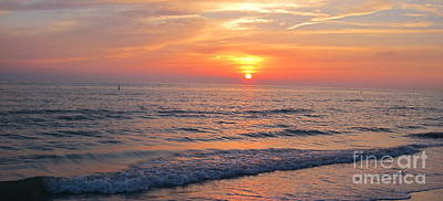 Ocean Photograph - Beautiful Sunset by Megan Cohen