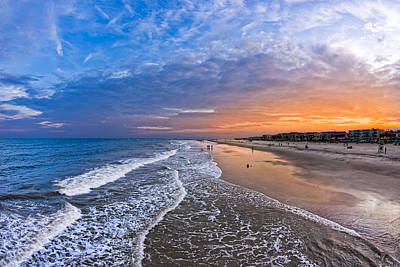 Art Print featuring the photograph Beautiful Sunset Over Tybee Island by Mark E Tisdale
