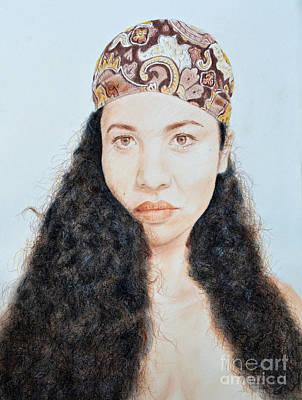 Thai Mixed Media - Beautiful Thai  Artist And Model Dao by Jim Fitzpatrick