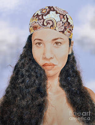 Thai Mixed Media - Beautiful Thai  Artist And Model Dao Version II by Jim Fitzpatrick