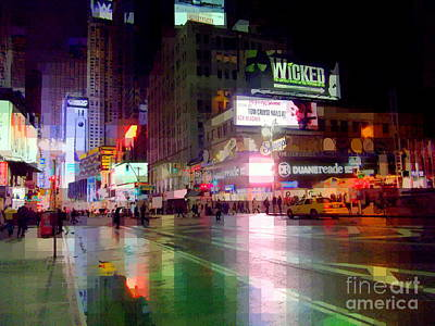 Photograph - Beautiful Times Square - The Lights Of New York by Miriam Danar