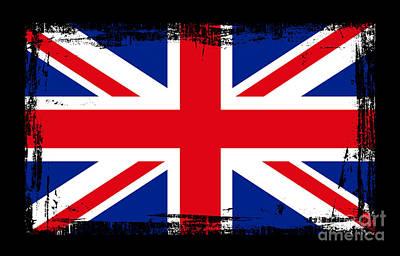 Beautiful United Kingdom Flag Art Print