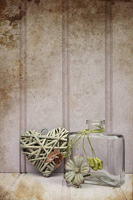 Stil Life Photograph - Beautiful Vase With Heart Still Life Love Concept by Matthew Gibson