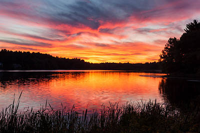 Beautiful Vibrant Sunset Art Print by Laura Duhaime
