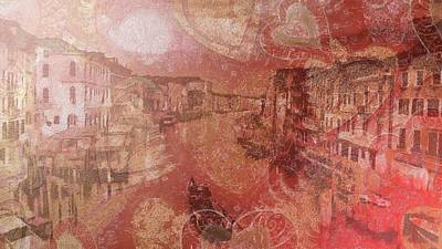 Art Print featuring the painting Beautiful View Of Italian Silk by Catherine Lott