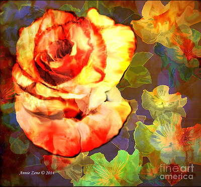 Painting - Beautiful Vintage Rose by Annie Zeno