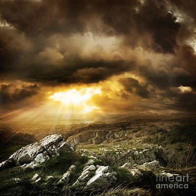 Art Print featuring the photograph beautiful Wilderness Rugged nature landscape by Boon Mee