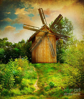 Art Print featuring the photograph Beautiful Windmill by Boon Mee