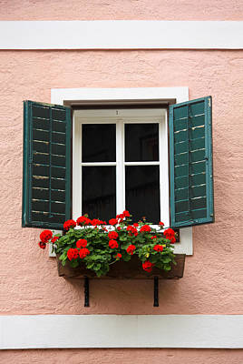 Photograph - Beautiful Window With Flower Box And Shutters by Susan Leonard