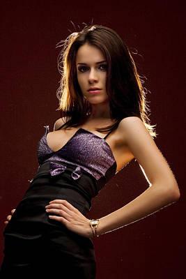 Beautiful Woman Posing In Studio Original
