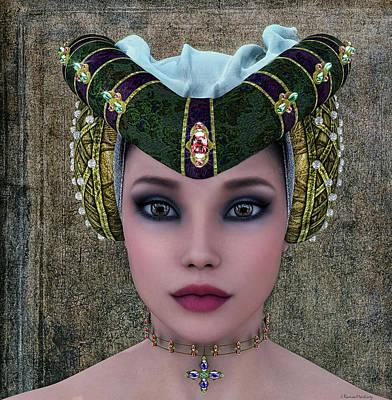 Donna Digital Art - Beautiful Woman by Ramon Martinez