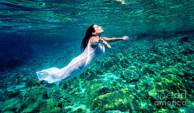 Photograph - Beautiful Woman Relaxing In The Water by Anna Om