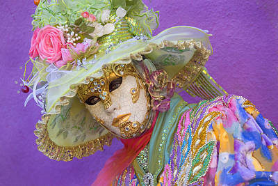 Photograph - Beautiful Women In Mask by Indiana Zuckerman