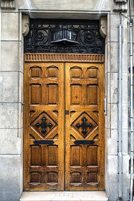 Old Home Place Photograph - Beautiful Wooden Paris Door by Georgia Fowler