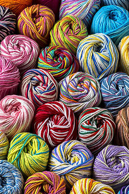 Colorful Art Photograph - Beautiful Yarn by Garry Gay