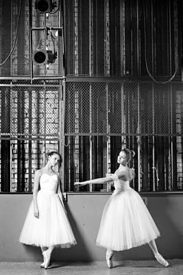 Beautiful Young Ballet Dancers In Rehearsal Art Print by Ilya Lokalin