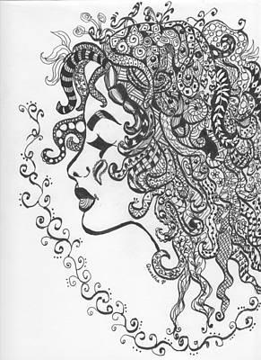 Drawing - Beautiful Zia by Quwatha Valentine