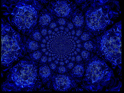 Art Print featuring the digital art Beautifully Blue by A Dx
