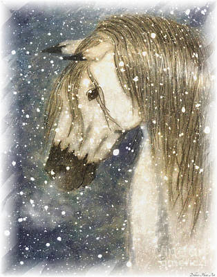 Blank Mixed Media - Beauty And Strength Cold Day Warm Breath by Debbie Portwood