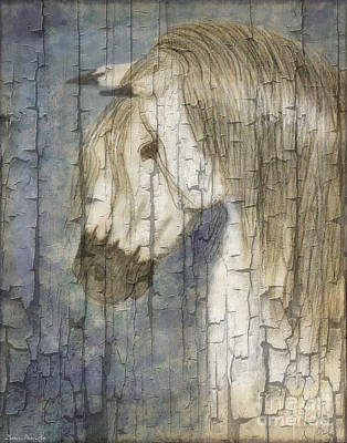 Blank Mixed Media - Beauty And Strength Crackle by Debbie Portwood