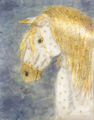 Painting - Beauty And Strength  Golden Appaloosa by Debbie Portwood