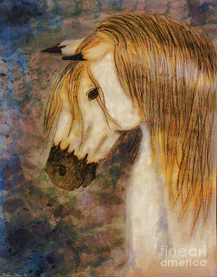 Mixed Media - Beauty And Strength Golden Mane by Debbie Portwood