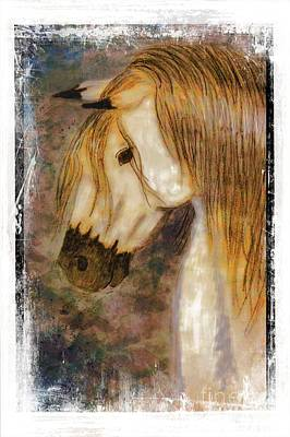Mixed Media - Beauty And Strength Golden Mane I by Debbie Portwood