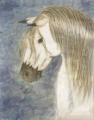 Painting - Beauty And Strength With Verse by Debbie Portwood