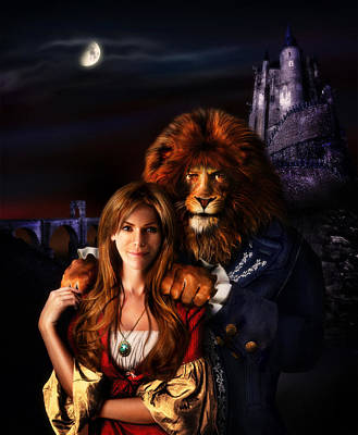 Mistery Digital Art - Beauty And The Beast by Alessandro Della Pietra