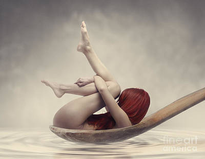Surrealism Royalty Free Images - Beauty Bath Royalty-Free Image by Jelena Jovanovic