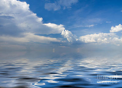 beauty Clouds over Sea Art Print by Boon Mee