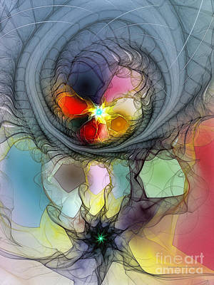 Digital Art - Beauty Flourishing In Obscurity by Karin Kuhlmann