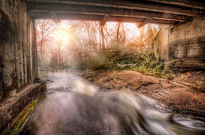 Beauty From Under The Old Bridge Art Print