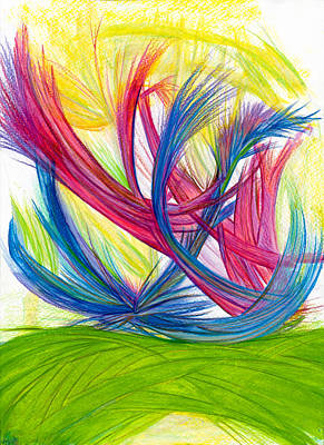 Modern Abstract Drawing - Beauty Gives Joy by Kelly K H B