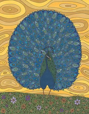 Beauty In Blue And Green Art Print by Pamela Schiermeyer