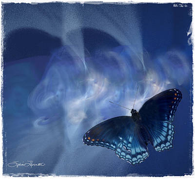 Beauty In Blue Art Print by Sylvia Thornton
