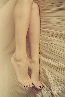 Beauty In Her Feet Art Print by Tos