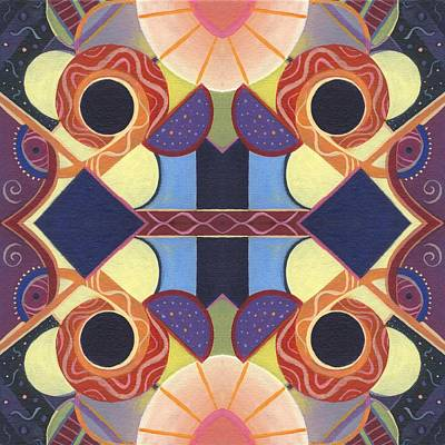 Painting - Beauty In Symmetry 2 - The Joy Of Design X X Arrangement by Helena Tiainen