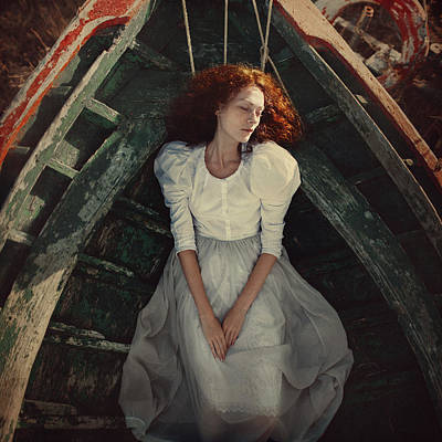 Redheads Photograph - Beauty In The Boat by Anka Zhuravleva