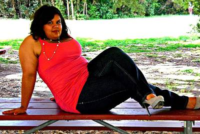 Plump Women Wall Art - Photograph - Beauty In The Park by Victoria Beasley