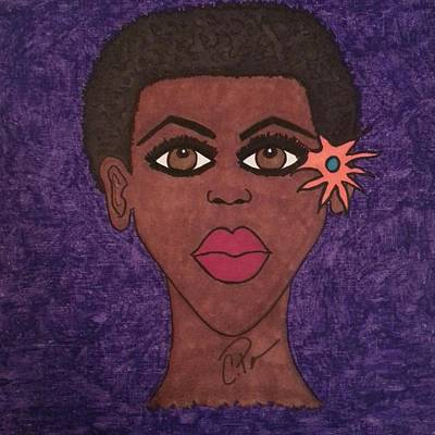 Art Print featuring the drawing Beauty Is In The Eyes by Chrissy  Pena