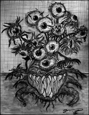 Sunflowers Drawings - Beauty is in the Eyes of the Beholder by Jose A Gonzalez Jr