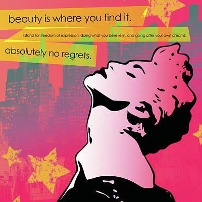 Famous Stencils Digital Art - Beauty Is Where You Find It by dreXeL