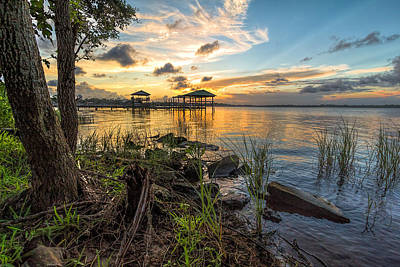 Photograph - Beauty Of A Back Bay Sunset by Brian Wright