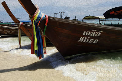 Photograph - Beauty Of Boats Thailand 2 by Bob Christopher