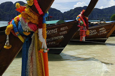 Photograph - Beauty Of Boats Thailand 3 by Bob Christopher
