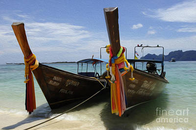 Photograph - Beauty Of Boats Thailand 4 by Bob Christopher