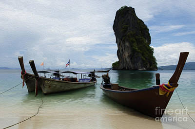 Photograph - Beauty Of Boats Thailand 5 by Bob Christopher