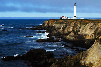 Photograph - Beauty Of California Point Arena Lighthouse 1 by Bob Christopher